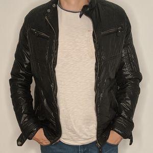 Black Nylon Puffy Bomber Jacket by Zara Man